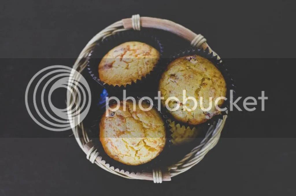 Savoury Polenta & Semi-Dried Tomato Chilli-Cheese Muffins