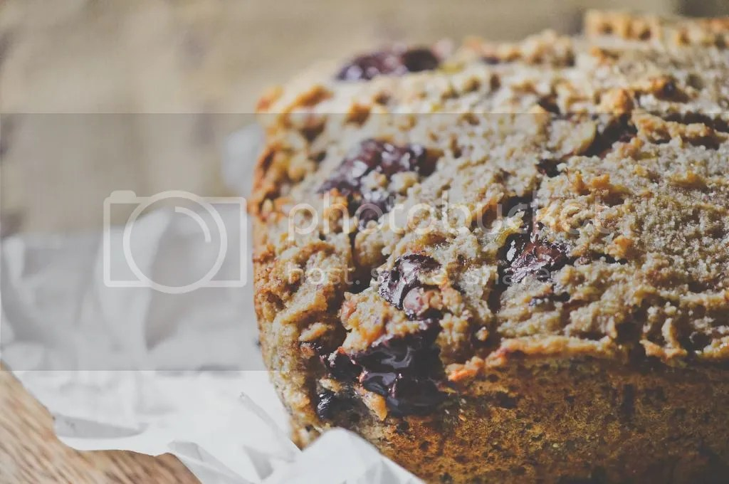 Spelt & Coconut Honey Banana Bread with Dark Chocolate Chunks