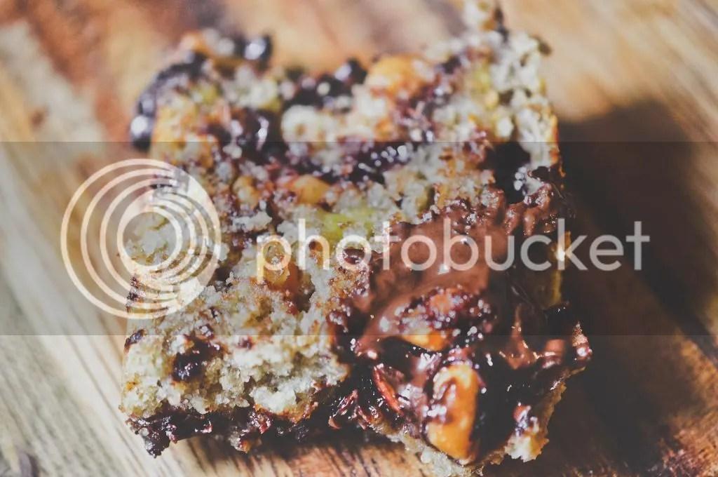 Spelt & Coconut Honey Banana Bread with Dark Chocolate Chunks
