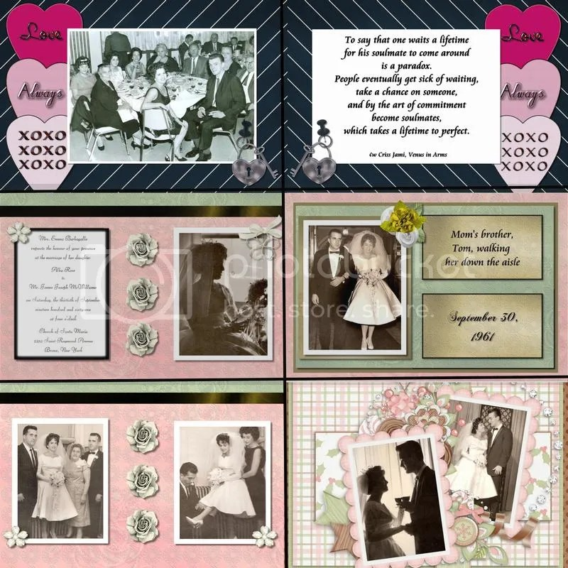 50th Anniversary Scrapbook for My Parents  Courtship and