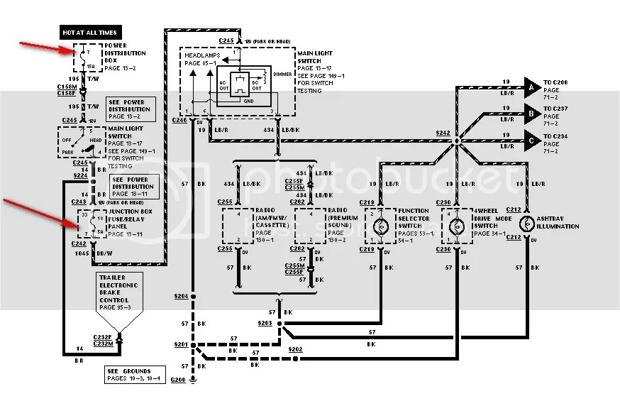 1999 ford f250 fuse box diagram