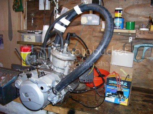 small resolution of i just looped a pipe from the pump to the top of the engine make sure you fill it with coolant though it ll run quite cheerfully for about 5 minutes like