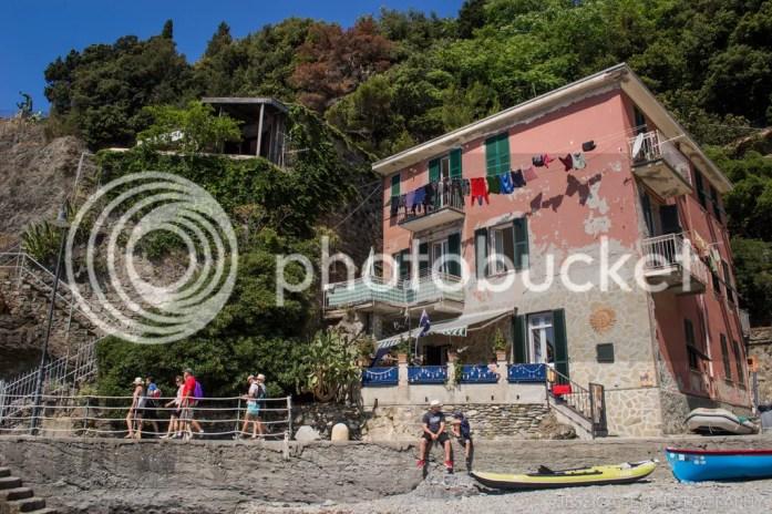 Monterosso Cinque Terre houses beach