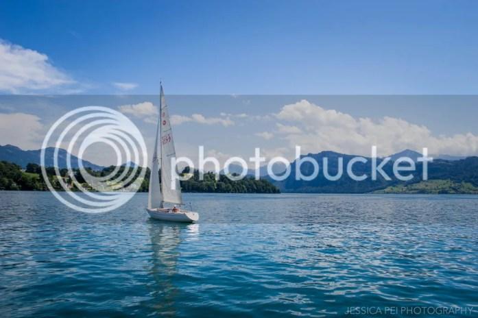 Sailboat Lucerne Switzerland Swiss Alps
