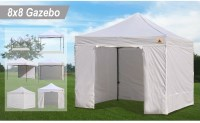 AbcCanopy 8x8 White Pop Up Canopy Tent + 4 Side Walls ...