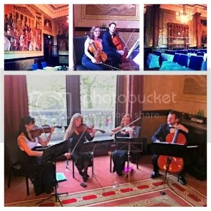 Niche London String Quartet wedding music at Whitehall Place