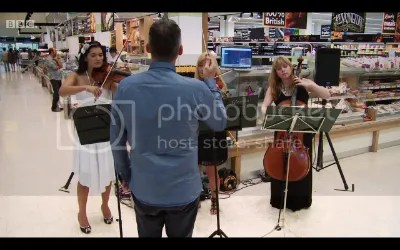 Niche String Trio on BBC TV recording