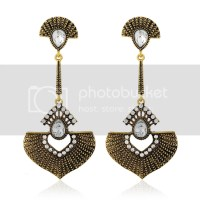 Fashion Women Elegant Drop Rhinestone Dangle Ear Stud ...