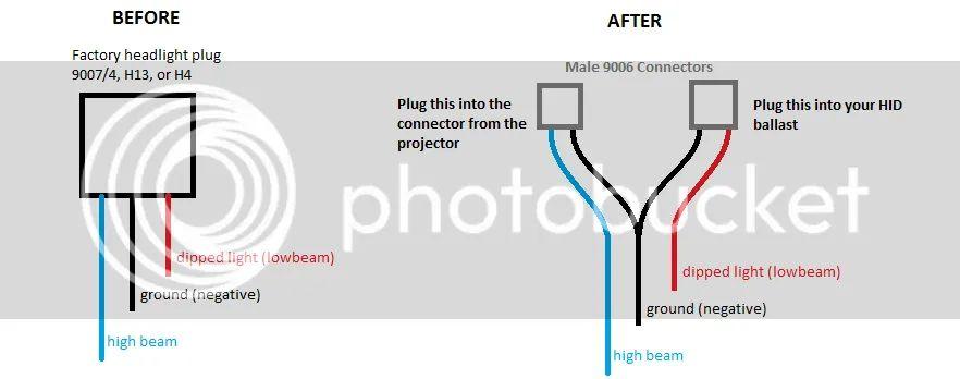 xenon installation guide hid headlight wiring diagram h13 headlight