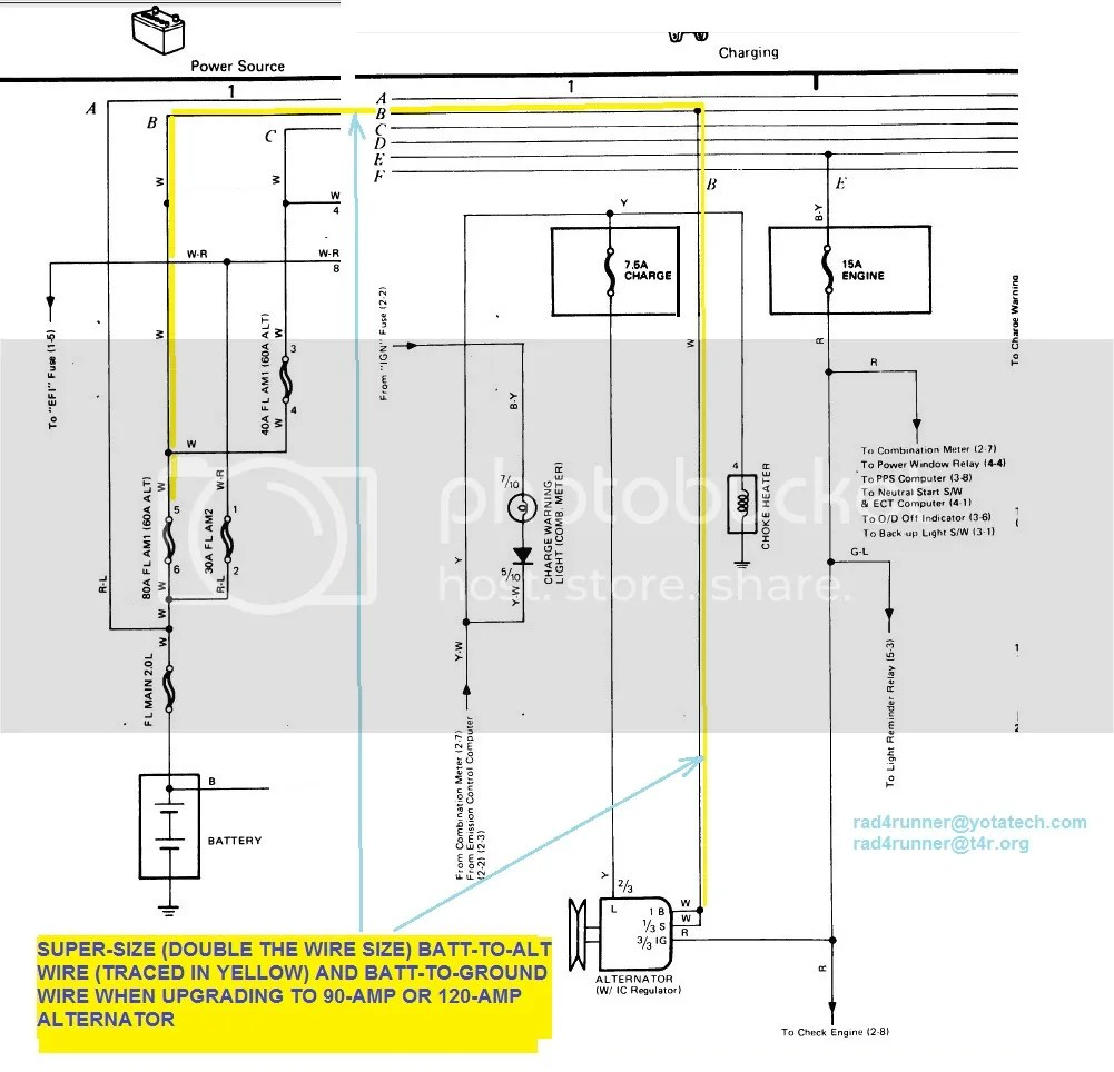 charging system wiring diagram 1984 toyota forerunner auto rh 6weeks co uk