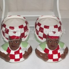 Aunt Jemima Kitchen Curtains Natural Maple Cabinets New 3pc Cook Canister Set Cookie Jar