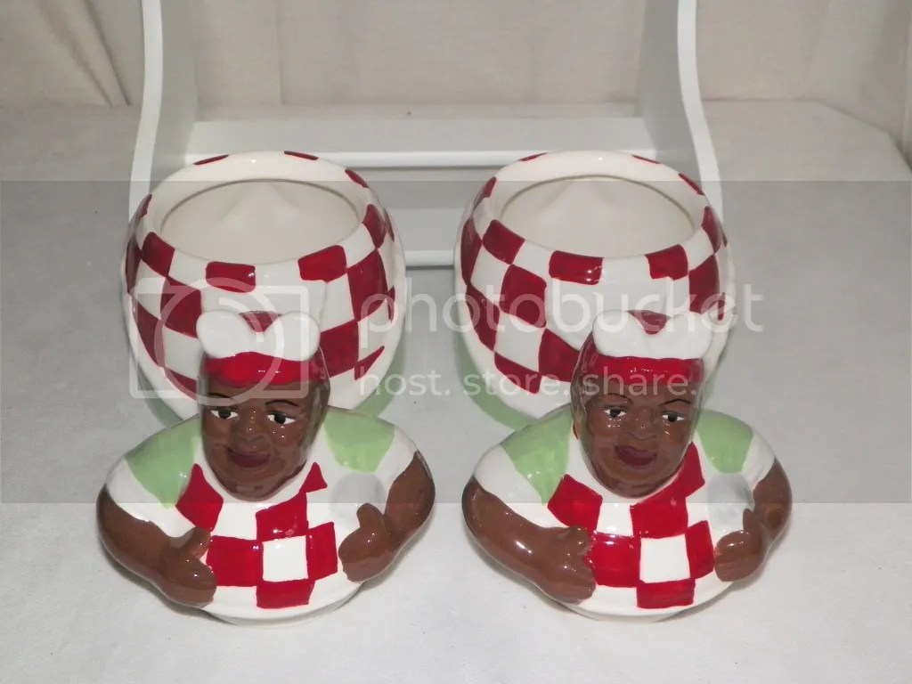 aunt jemima kitchen curtains counter bar stools new 3pc cook canister set cookie jar