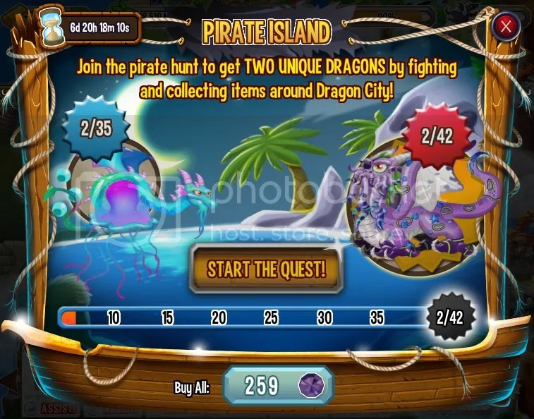 Pirate island on Dragon City