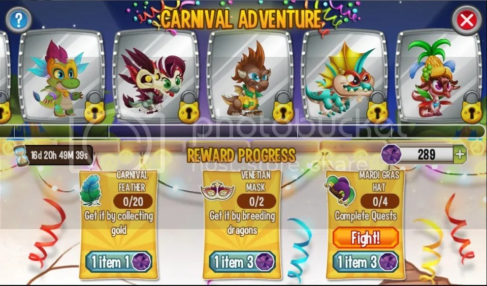 carnival adventure dragons