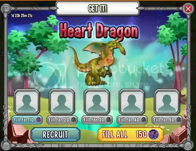 heart dragon dragon city