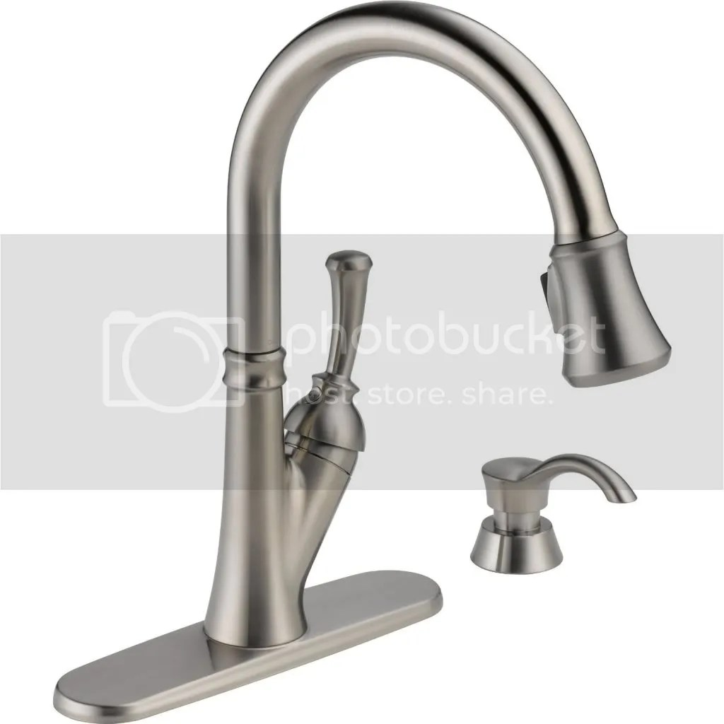 delta savile stainless 1 handle pull down kitchen faucet tiled floors reviews the shoppers guide