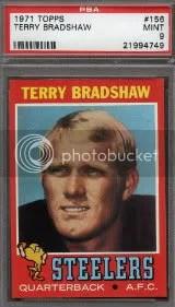 1971 Topps Terry Bradshaw Rookie PSA 9