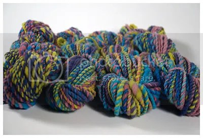 4 skeins handspun yarn