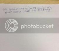 Life of a Blogger: Handwriting