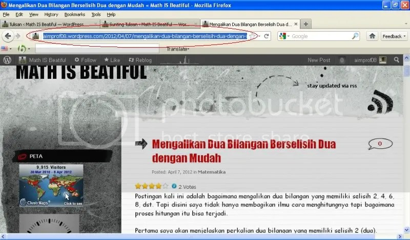 Cara Membuat Link pada Tulisan di Blog (WordPress) | Math IS Beautiful