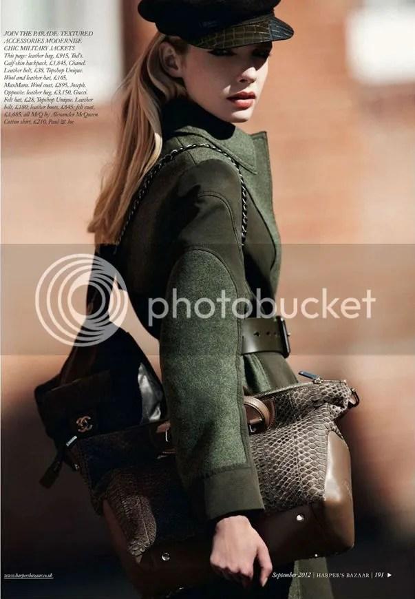 Sophie Srej in Attention Please editorial UK Harper's Bazaar shot by Jonas Bresnan