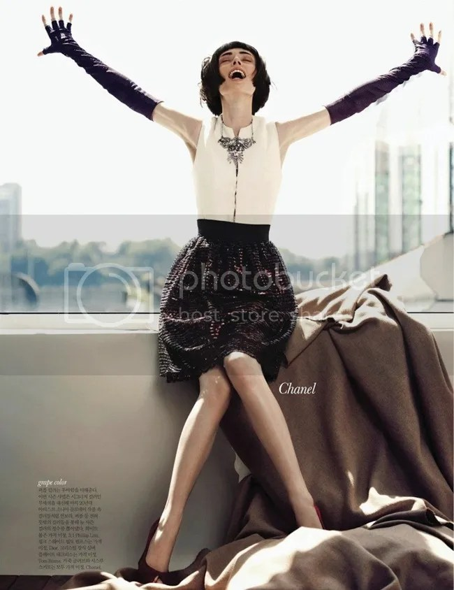 Editorial ELLE Korea Iconic Coco Coco Rocha shot by Hong Jang Chanel