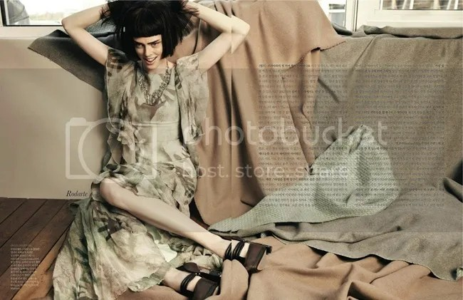 Editorial ELLE Korea Iconic Coco Coco Rocha shot by Hong Jang Rodarte