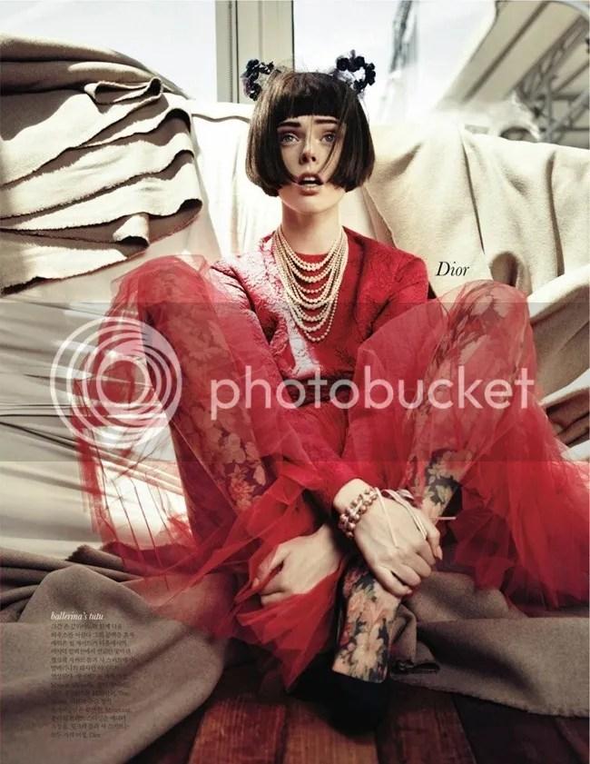 Editorial ELLE Korea Iconic Coco Coco Rocha shot by Hong Jang Dior