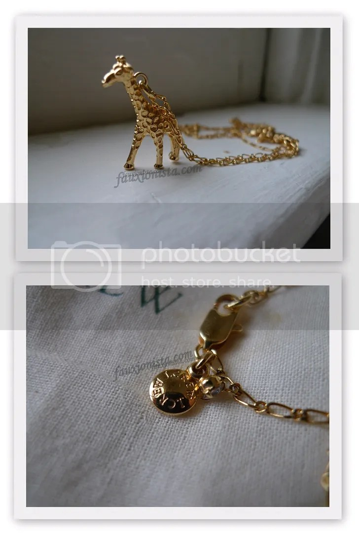 J Crew Factory Enamel Giraffe Charm Necklace
