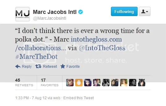 Marc Jacobs Tweet on Polka Dot