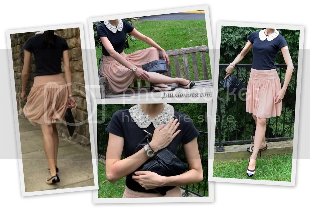 Fauxionable Outfit - Ballerina H&M jeweled collar Club Monaco Olga tulle skirt