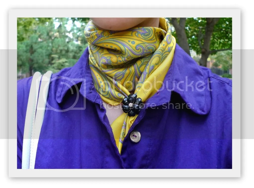Fauxionable Outfit - Purple Mixed Accents Marc Jacobs Paisley Scarf