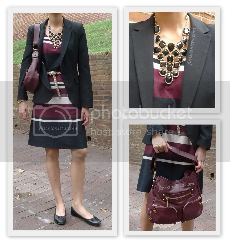 Fauxionable Outfit - Maroon & Black