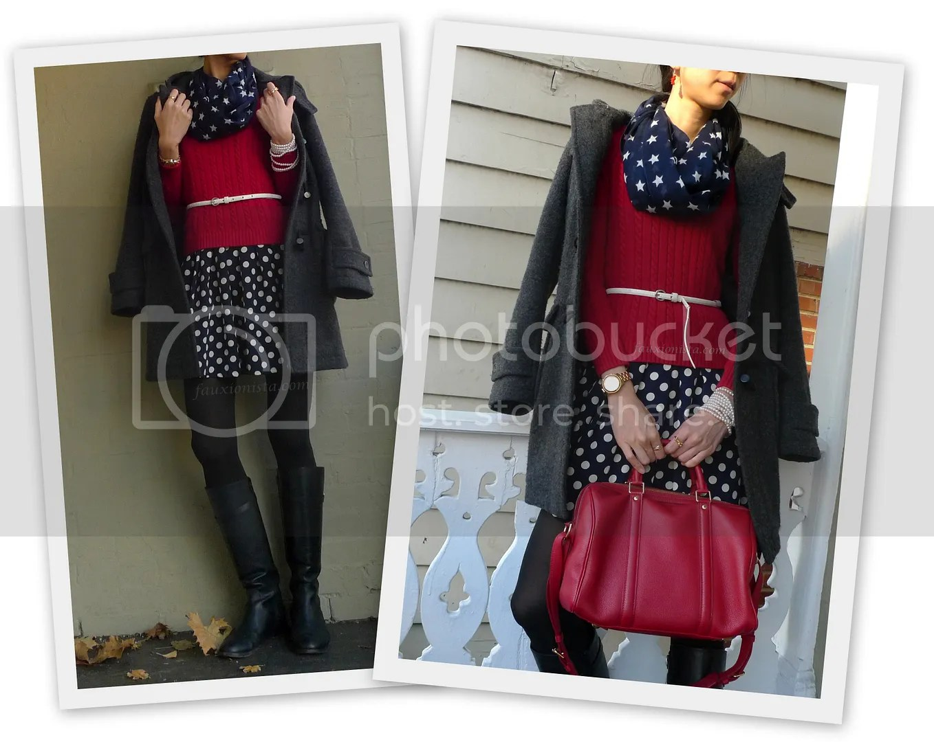 Fauxionable Outfit - Stars & Polka Dots Navy & Red