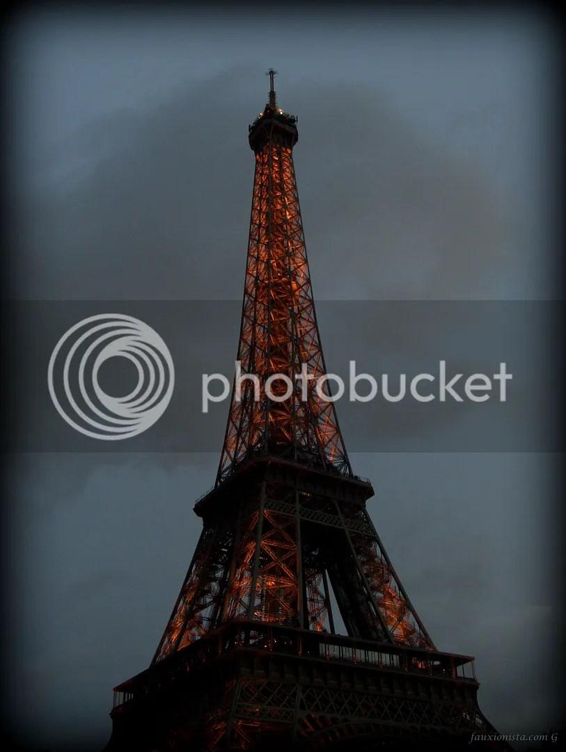 Eiffel Tower at dusk Paris