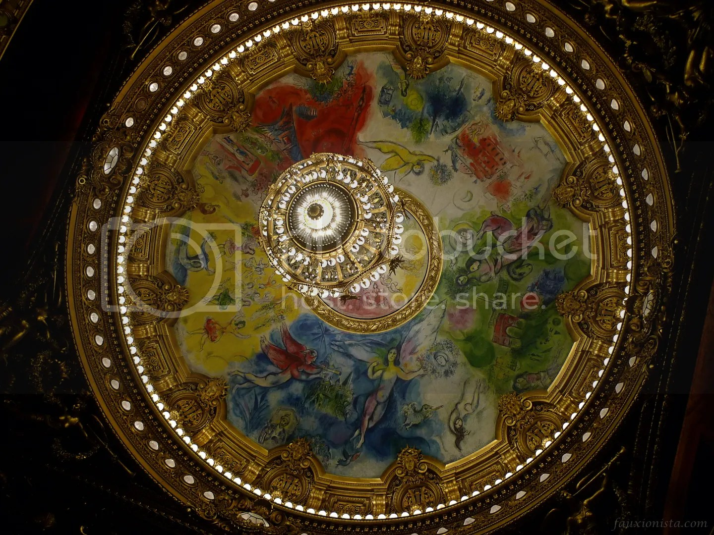 Marc Chagall ceiling painting Palais Garnier featuring composers for Opera