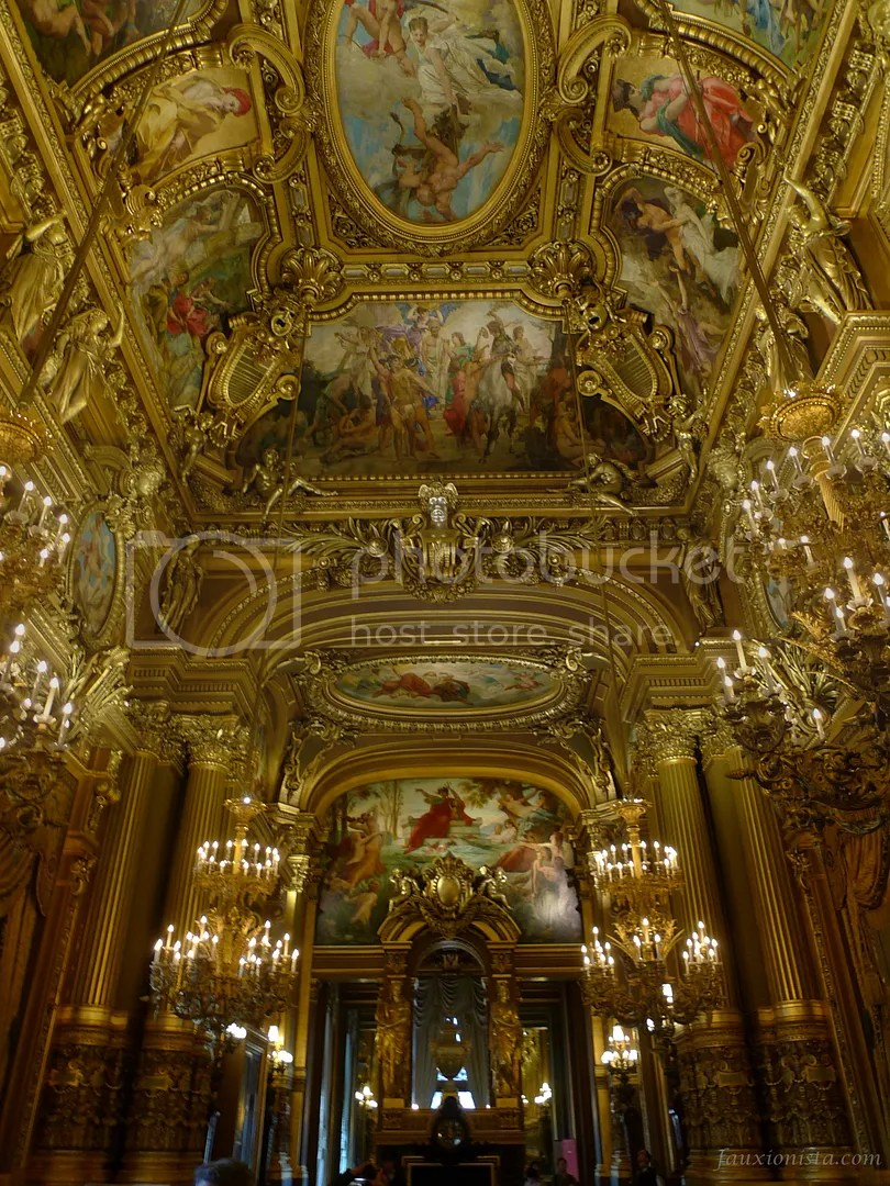 Opulent and ornate details of the Grand Foyer Palais Garnier Paris Opera House