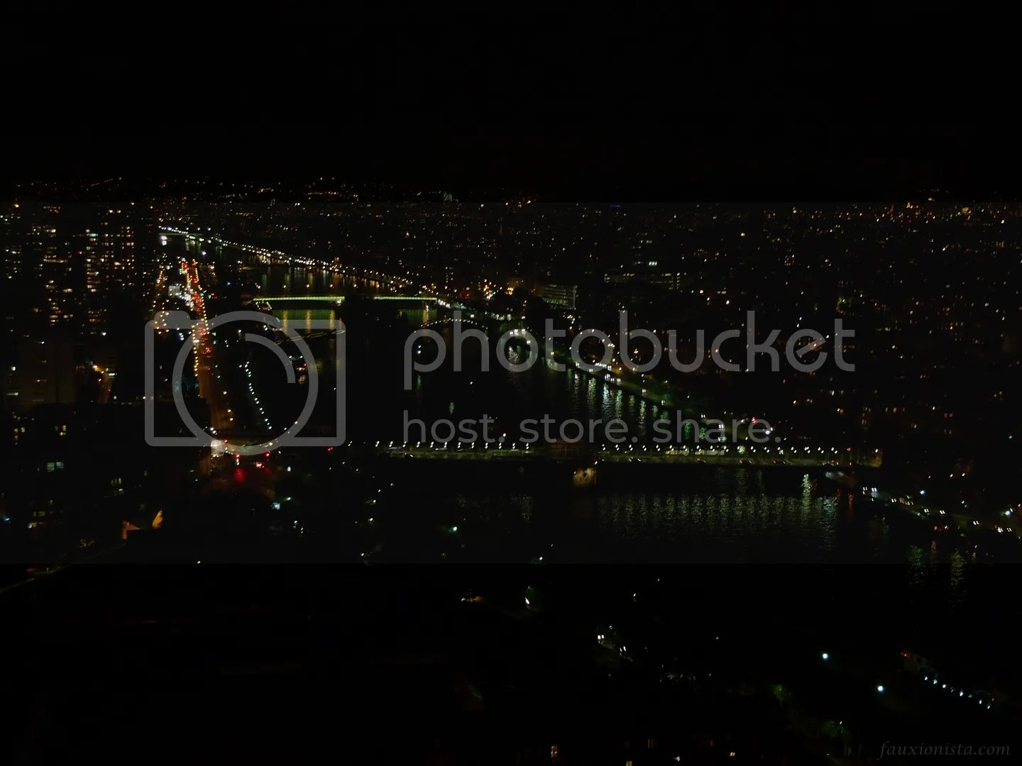 View from Eiffel Tower Paris at night