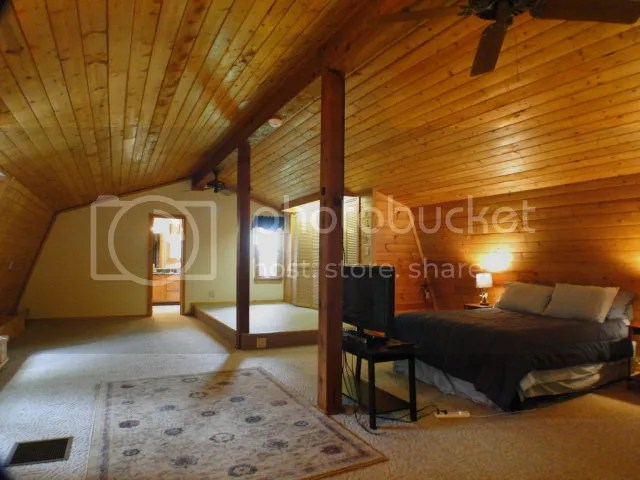 Awesome Loft Bedroom, Bald Head the Realtor, John Becker, Otto NC Log Home, D log mountain homes