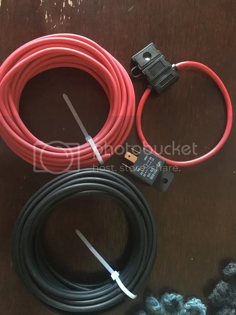 medium resolution of 10awg lead and ground cables 10awg inline fuse holder 40amp automotive relay