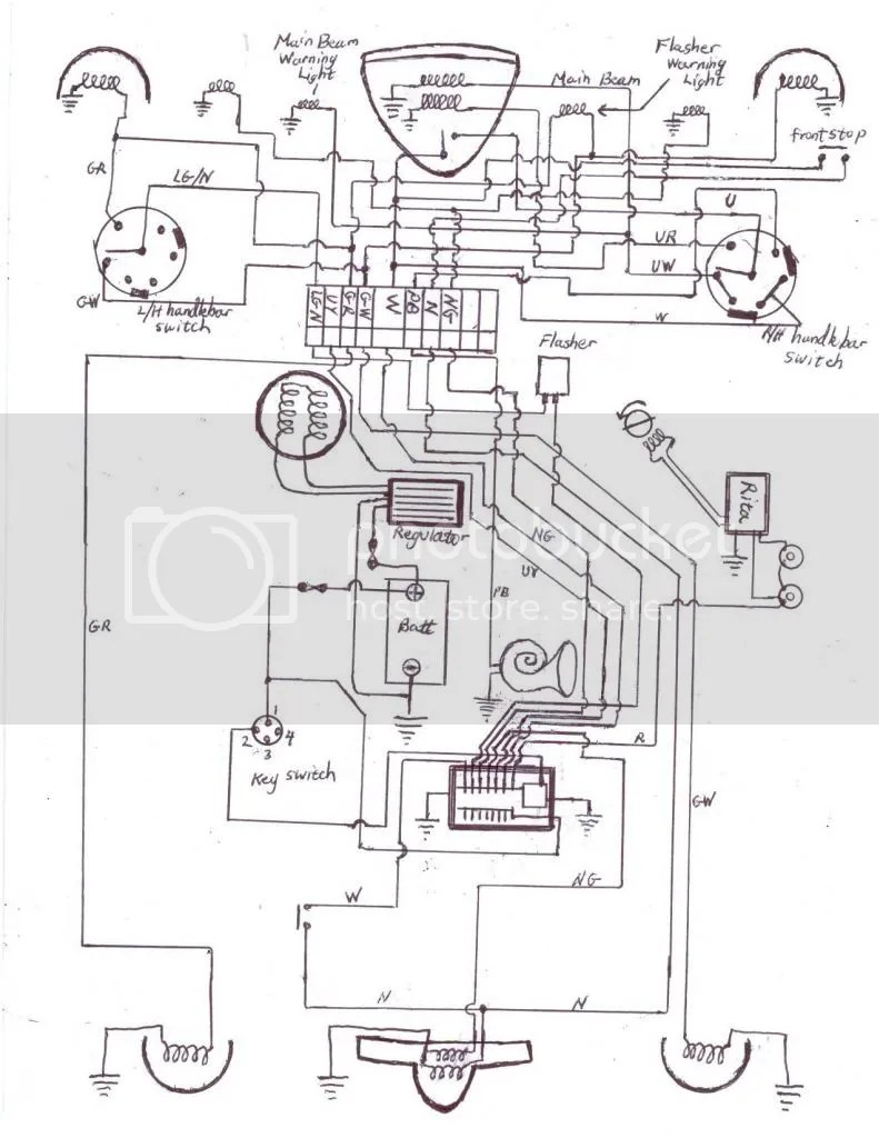 medium resolution of this is my hand drawn diagram that i actually built the harness to i used negative earth wiring diagram norton commando