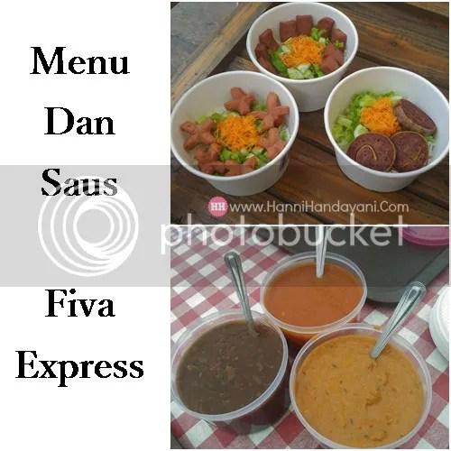 Paket menu dan saus Fiva Express