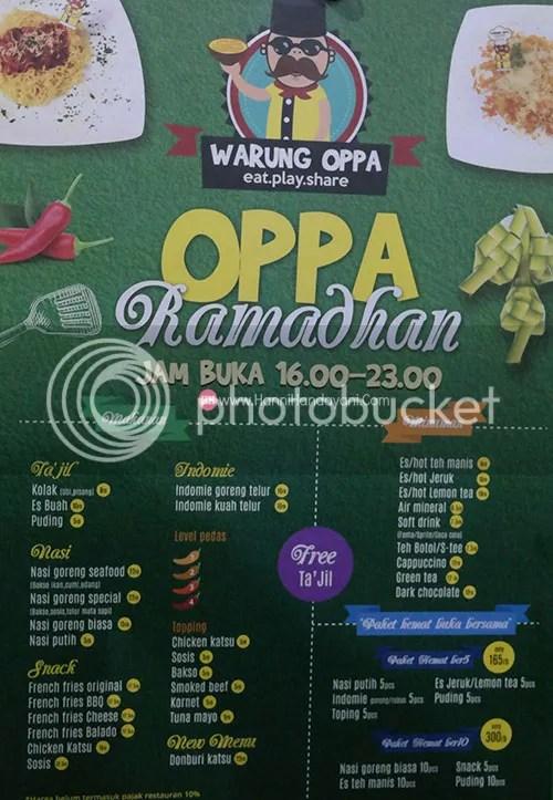 Menu Ramadhan Warung Oppa