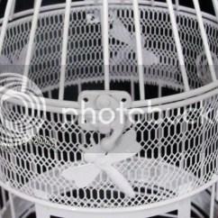 Hanging Chair Ebay Au Stand Test Measure 1pcs White Flower Luxury Wedding Bird Cage Nl01 |