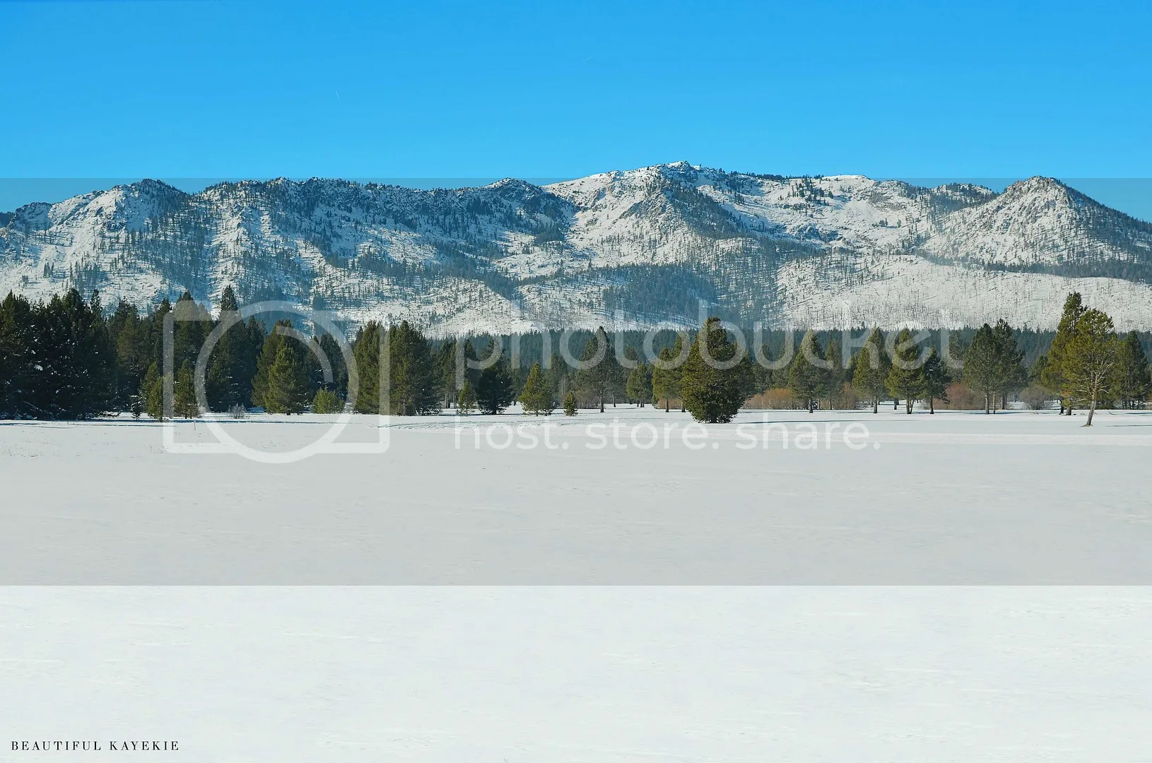 tahoe snow fields mountains