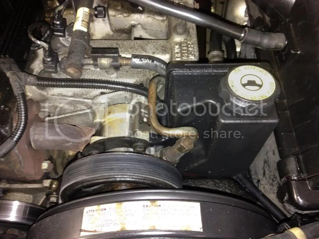 hight resolution of i installed the pump without the reservoir plugged in the pressure line and pushed it about 1 2 tword the engine be gentle with it too much and you can