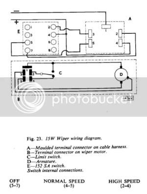 Wiper Motor switch diagram Series 2 22  The 'E' Type Forum