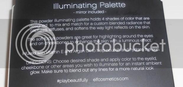 elf illuminating palette on dark skin