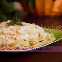 Day 47 : Smoked Salmon Fettuccine Alfredo with Capers