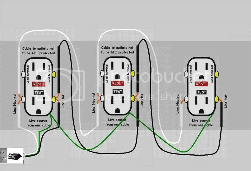 wiring a gfci in series wiring diagrams pictures